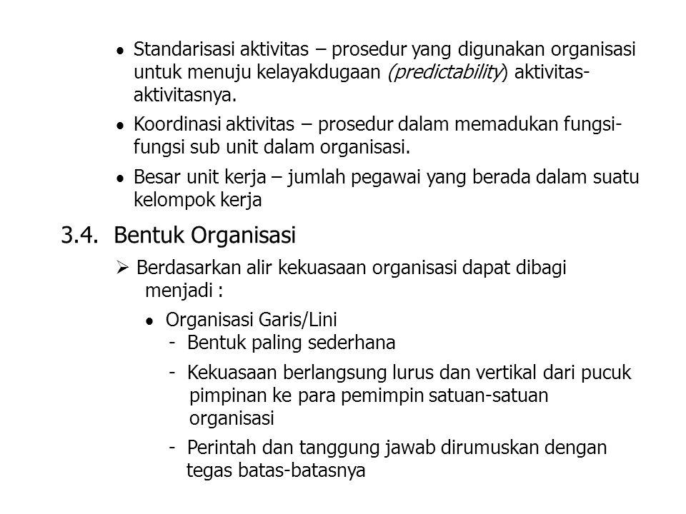 Standarisasi aktivitas – prosedur yang digunakan organisasi