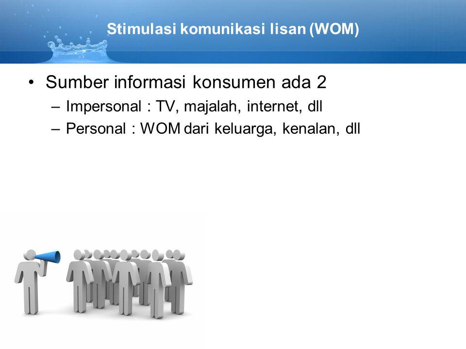 Stimulasi komunikasi lisan (WOM)