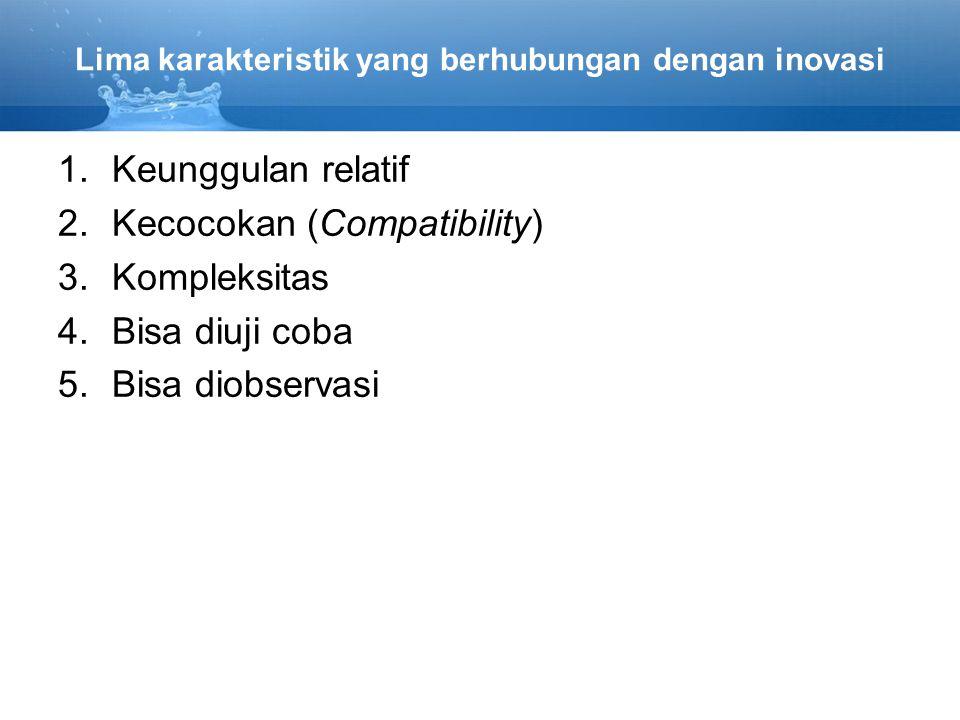 Lima karakteristik yang berhubungan dengan inovasi