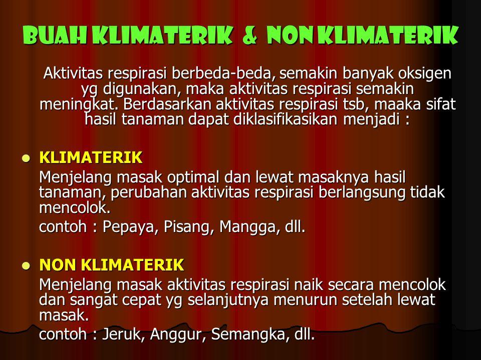 BUAH KLIMATERIK & NON KLIMATERIK