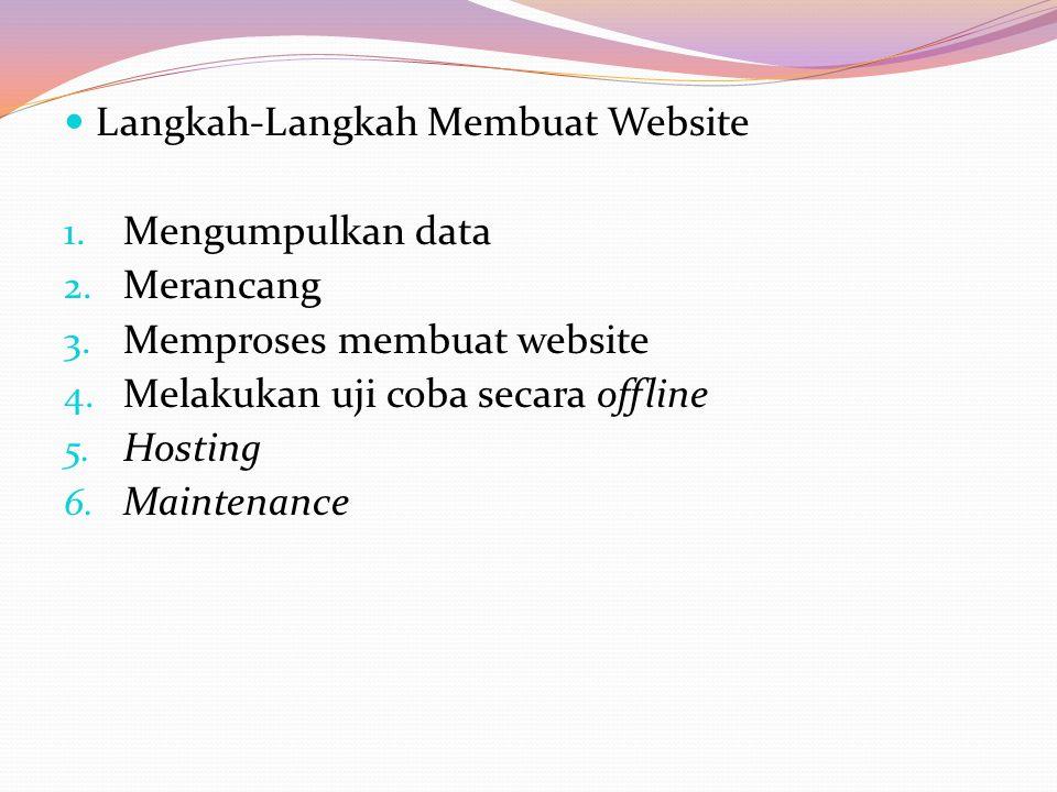 Langkah-Langkah Membuat Website