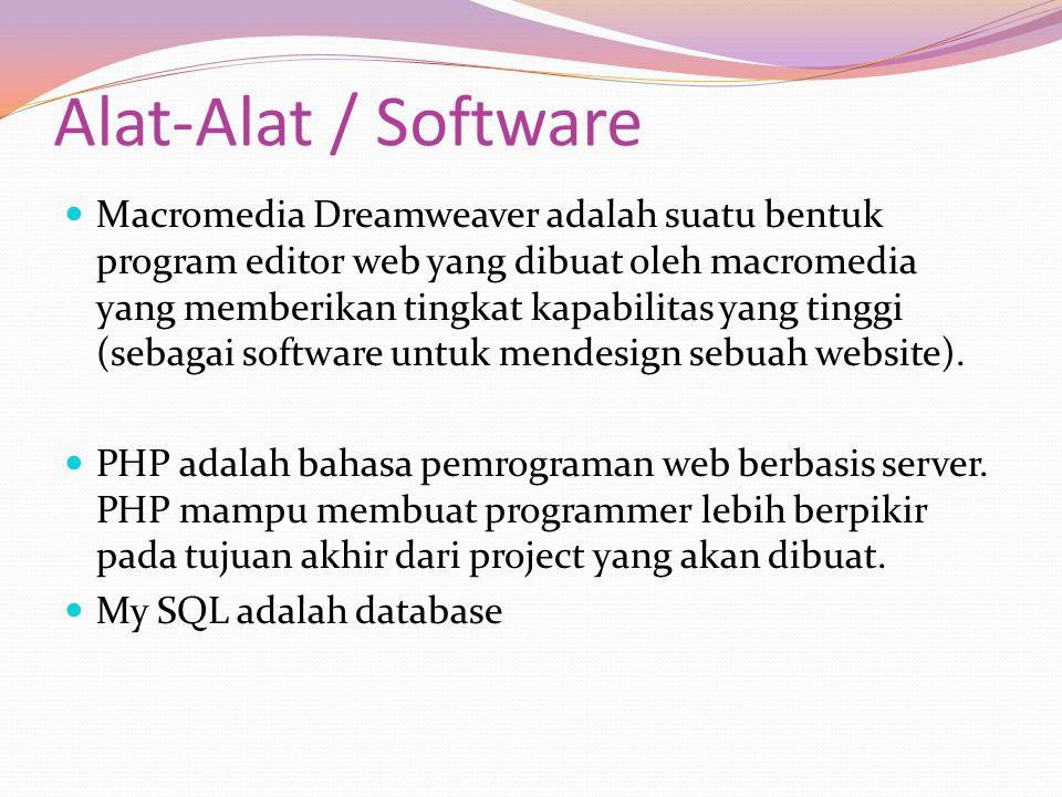 Alat-Alat / Software