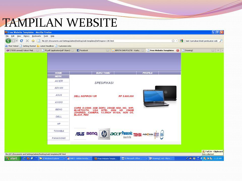 TAMPILAN WEBSITE