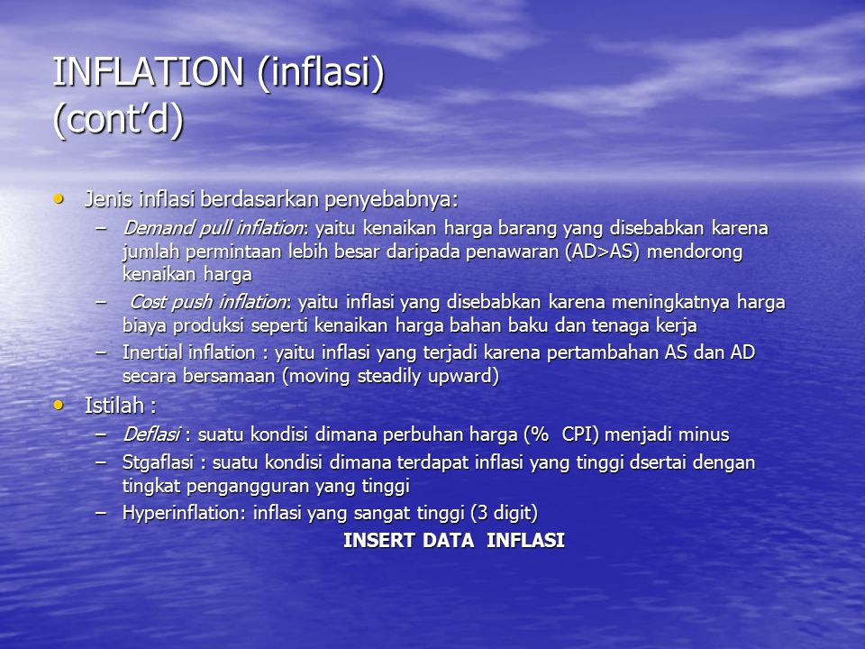 INFLATION (inflasi) (cont'd)