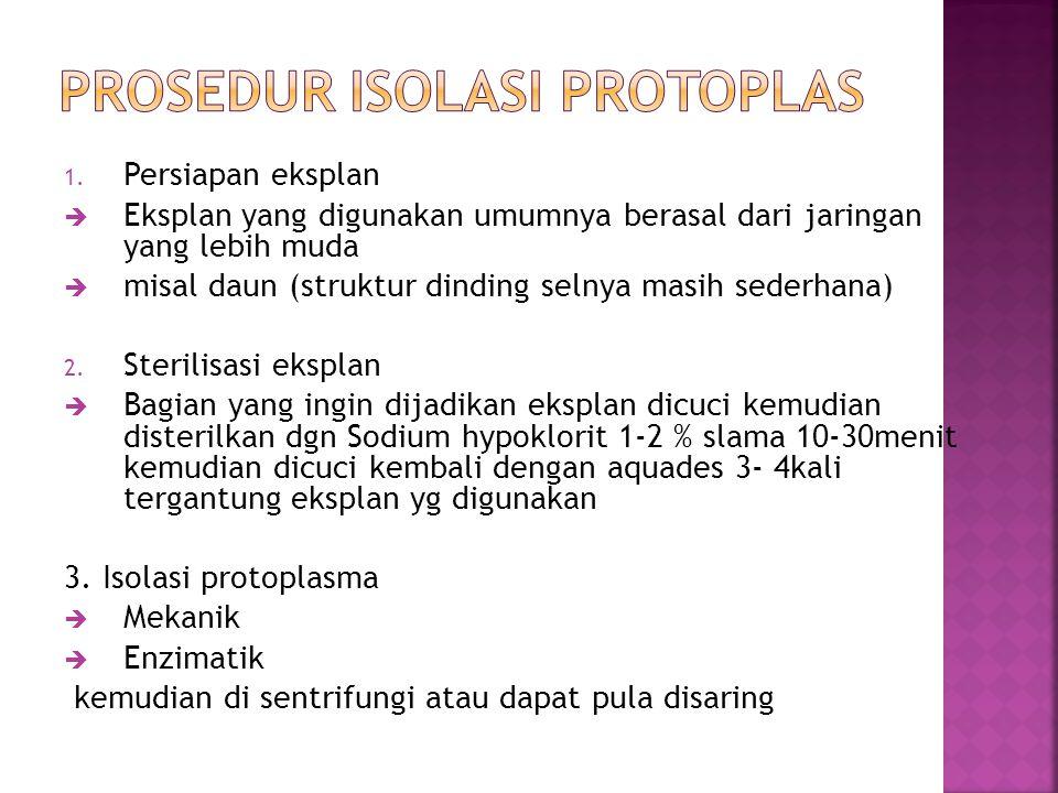 Prosedur isolasi protoplas