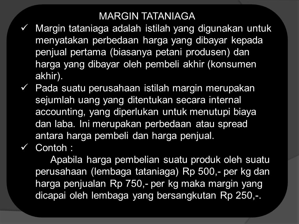 MARGIN TATANIAGA