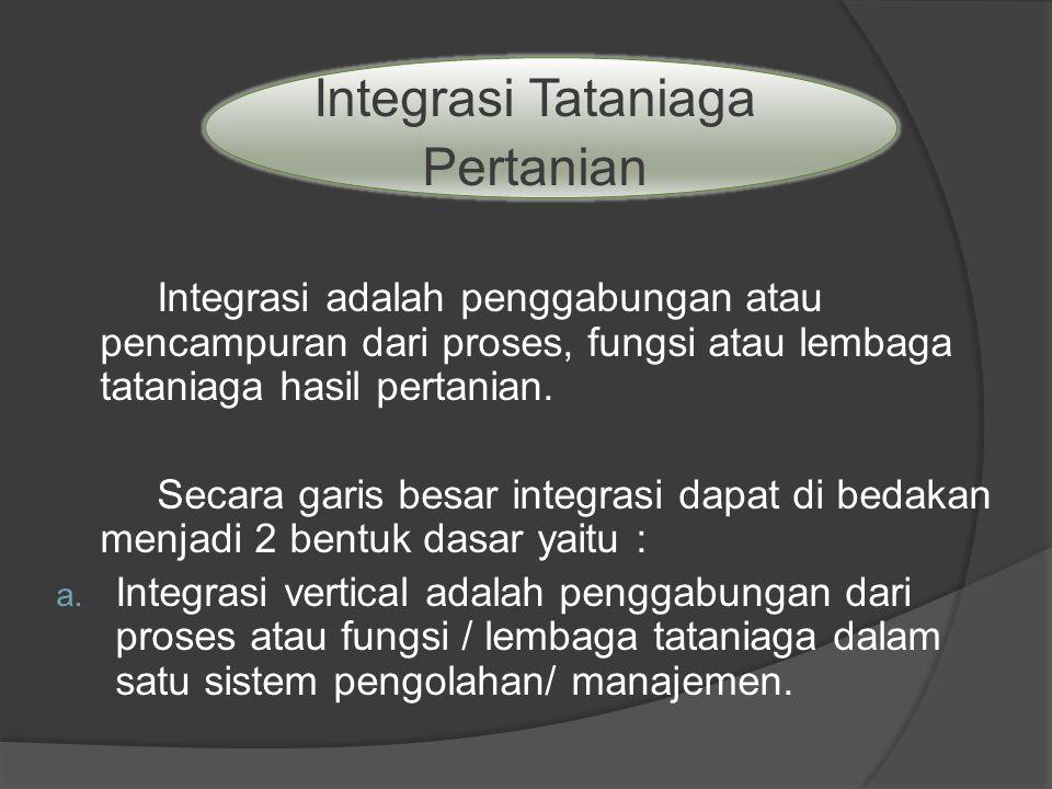 Integrasi Tataniaga Pertanian