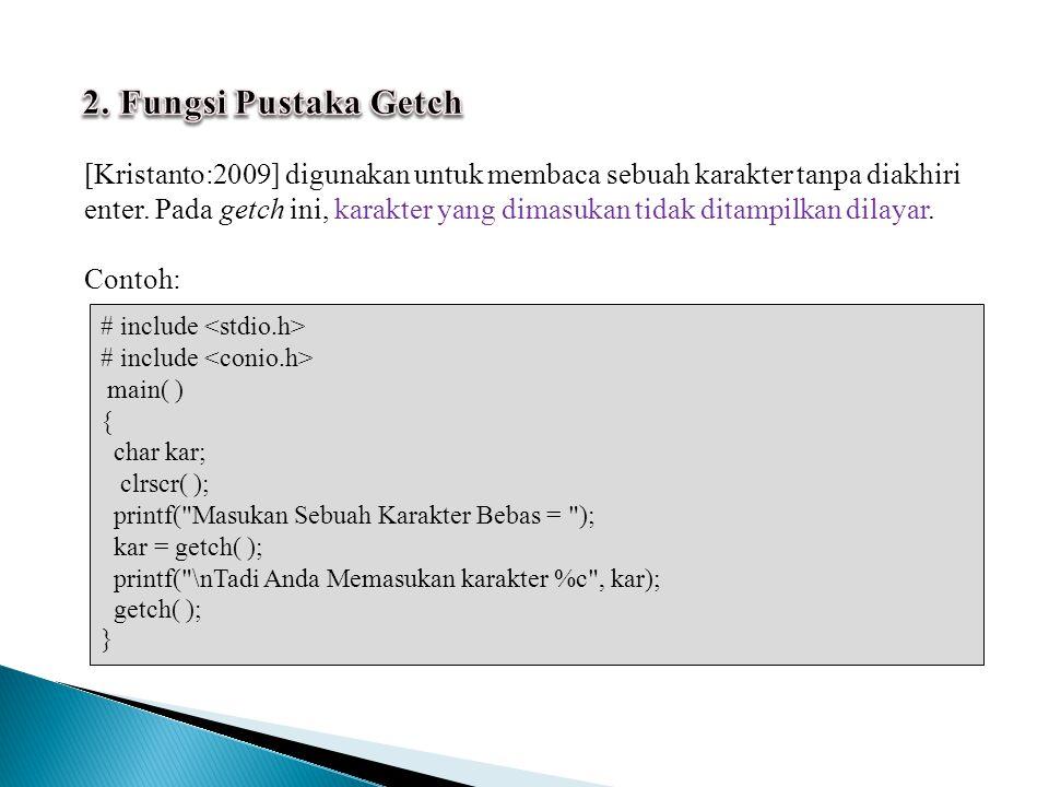 2. Fungsi Pustaka Getch