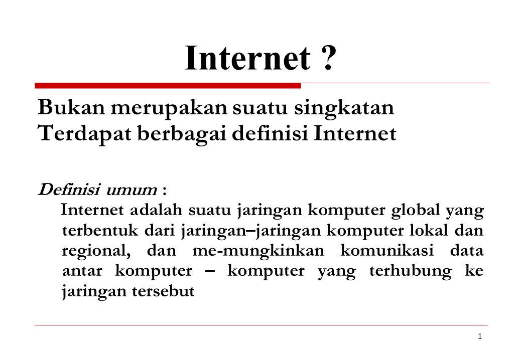 Internet Bukan merupakan suatu singkatan