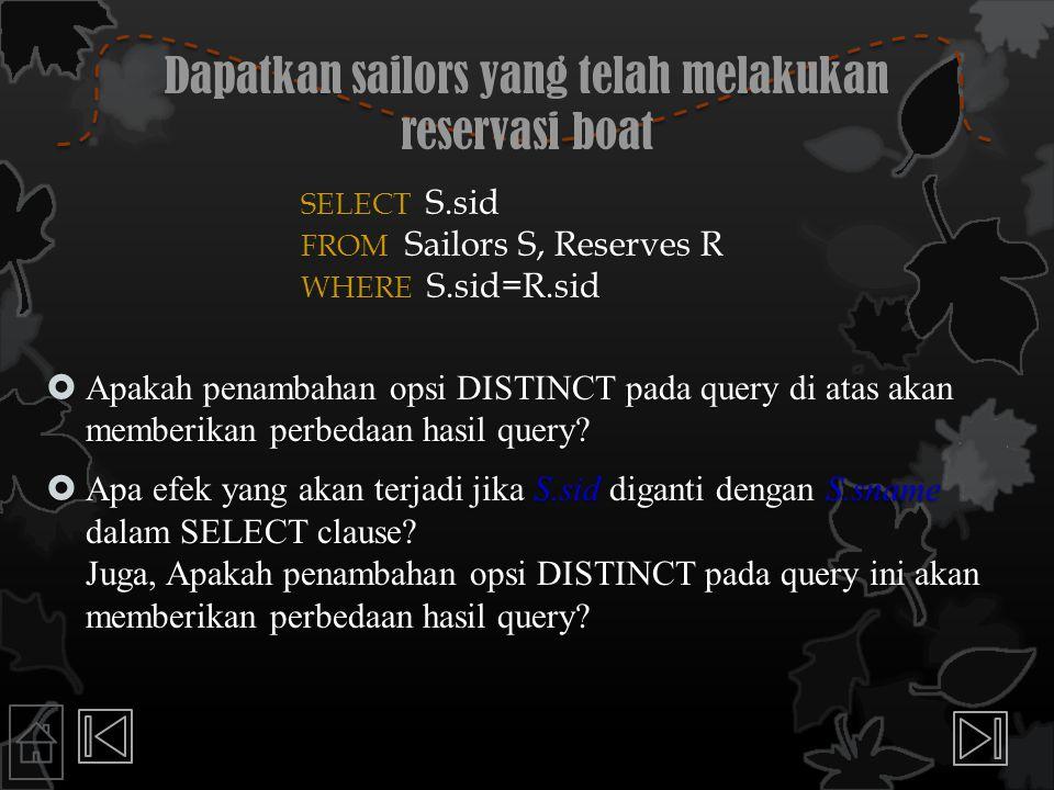 Dapatkan sailors yang telah melakukan reservasi boat