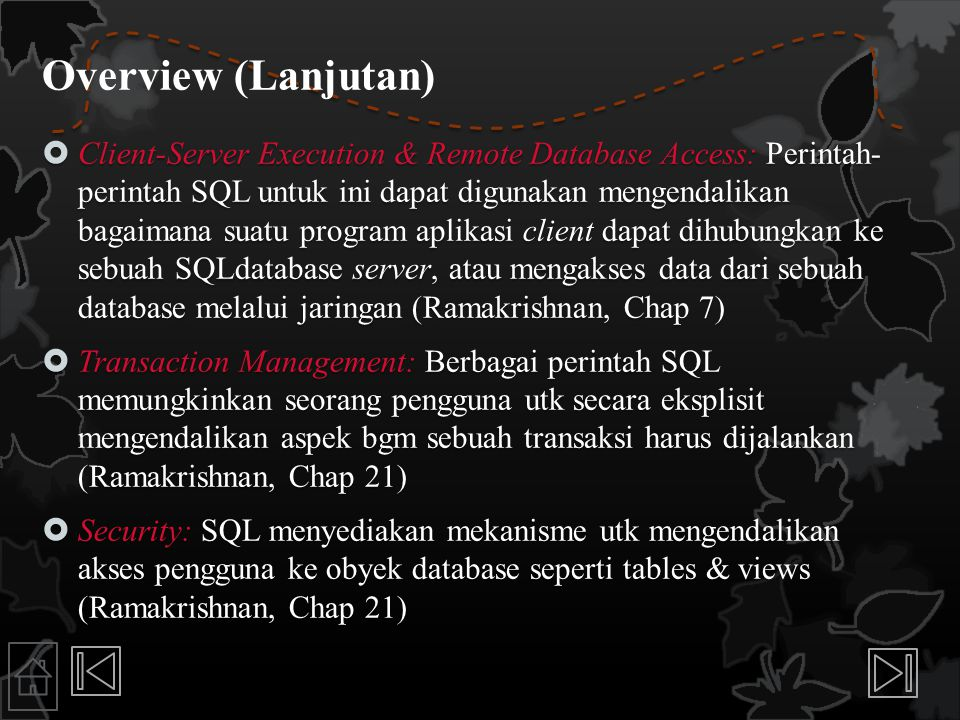 Overview (Lanjutan)