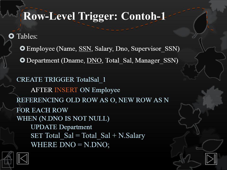 Row-Level Trigger: Contoh-1