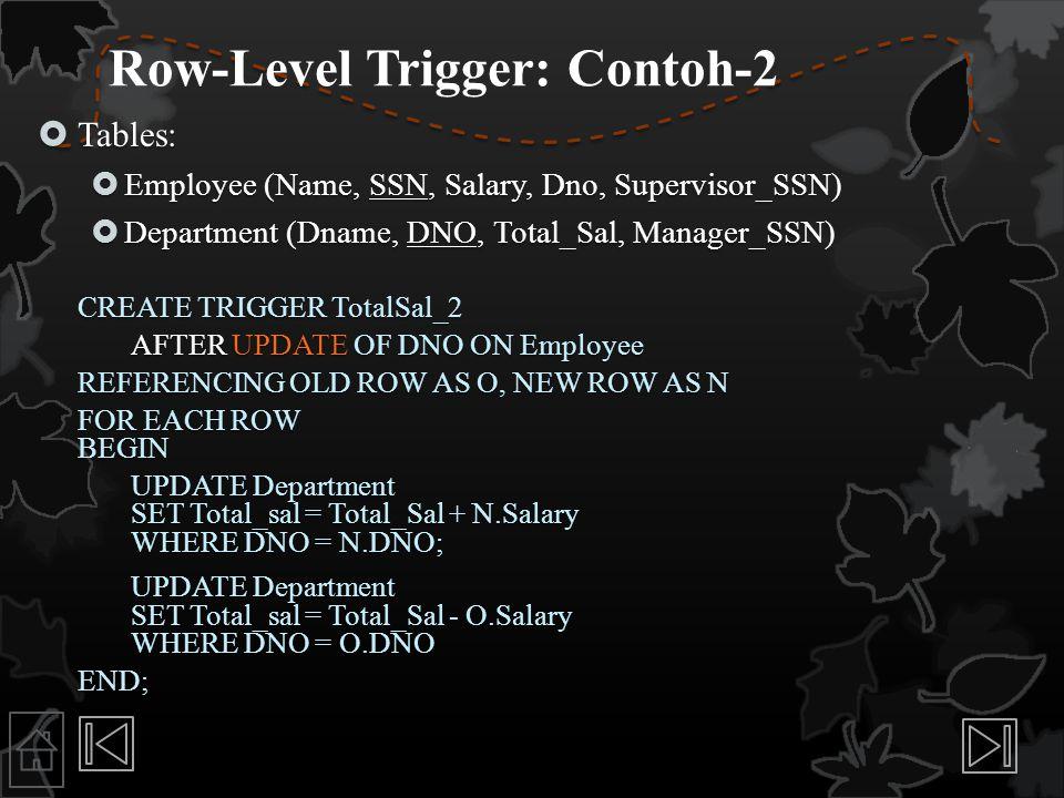 Row-Level Trigger: Contoh-2