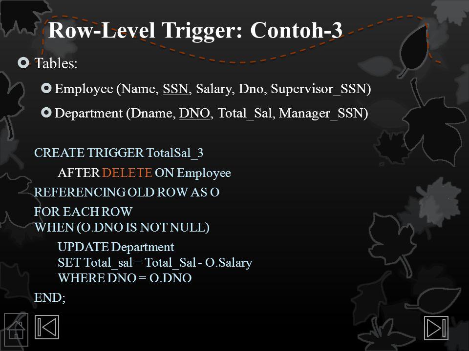 Row-Level Trigger: Contoh-3