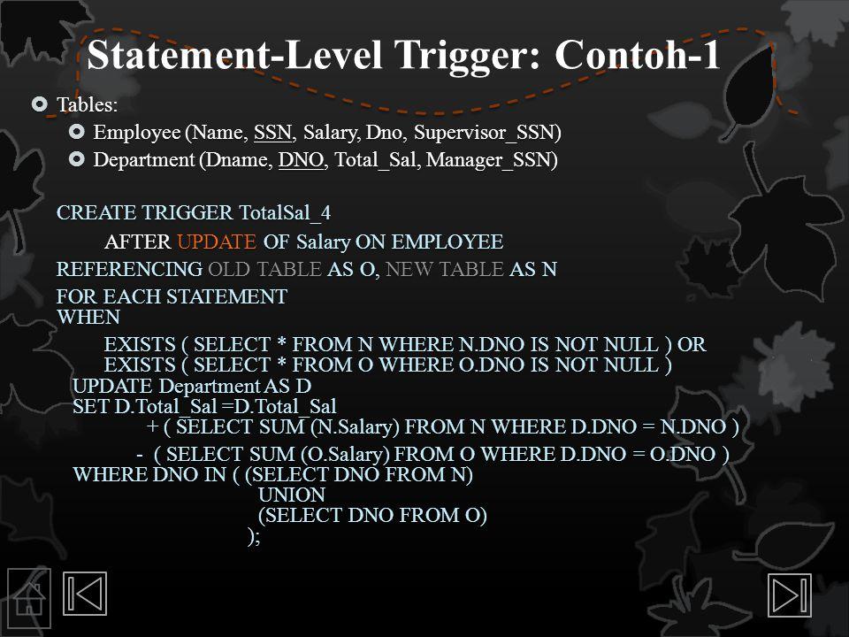 Statement-Level Trigger: Contoh-1