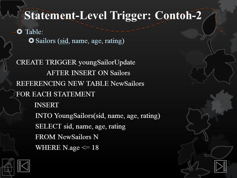 Statement-Level Trigger: Contoh-2