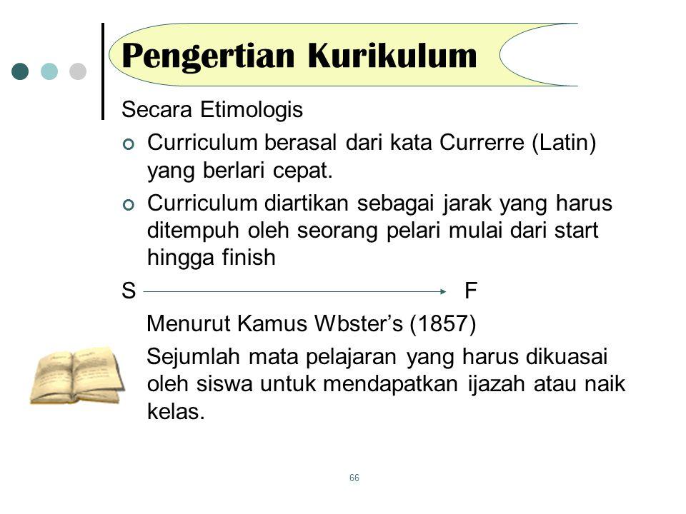 Pengertian Kurikulum Secara Etimologis