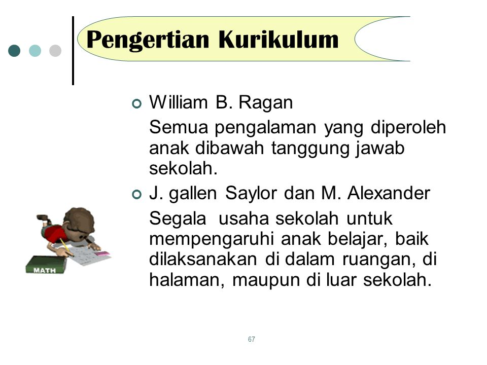 Pengertian Kurikulum William B. Ragan