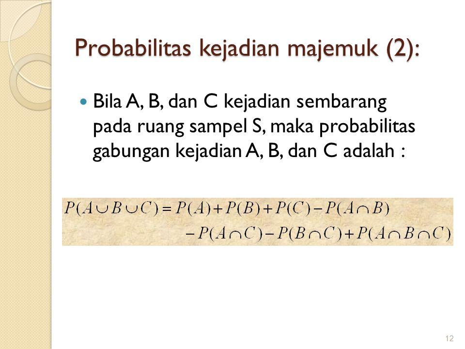 Probabilitas kejadian majemuk (2):