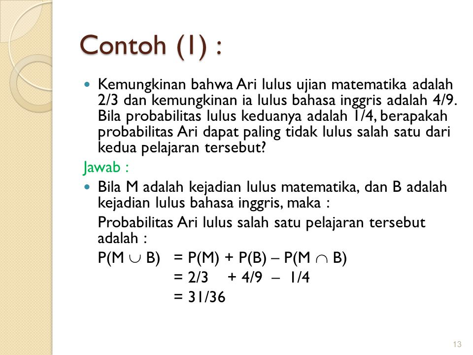 Contoh (1) :