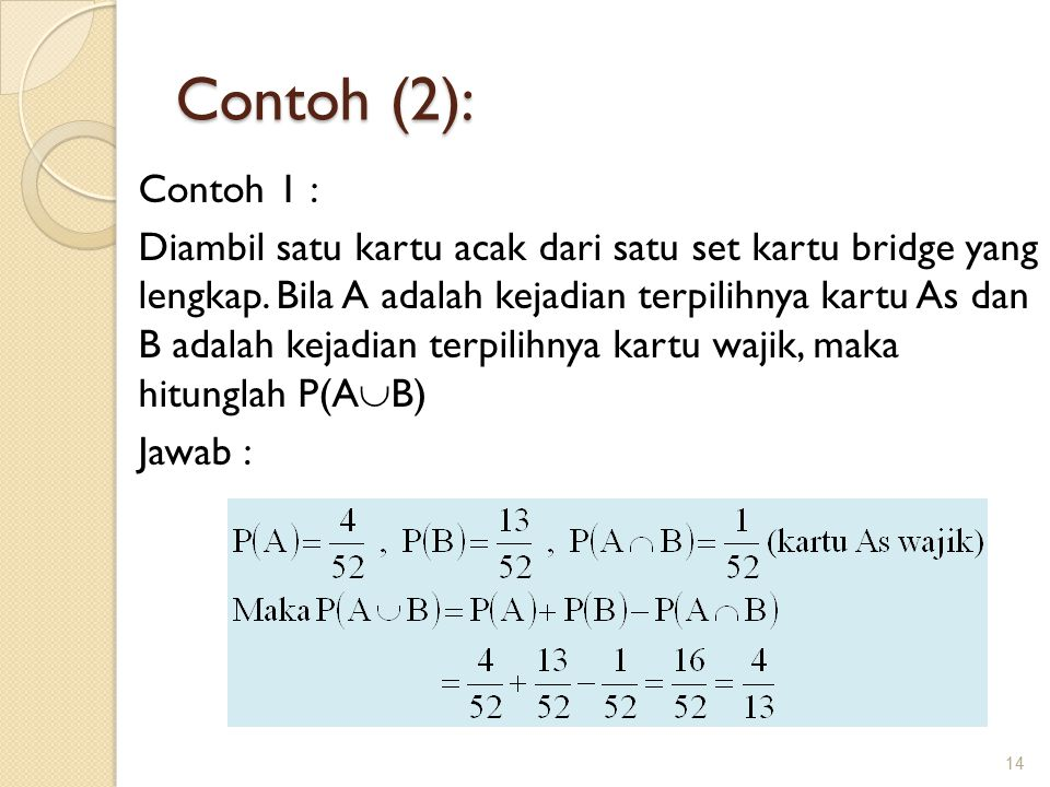 Contoh (2): Contoh 1 :