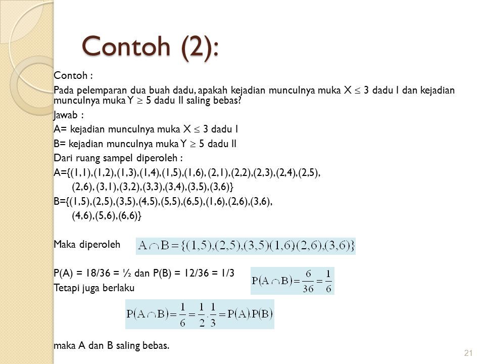 Contoh (2): Contoh :