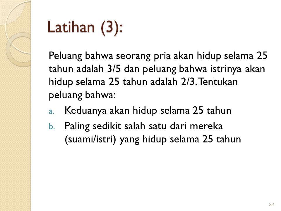 Latihan (3):