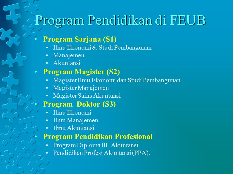 Program Pendidikan di FEUB