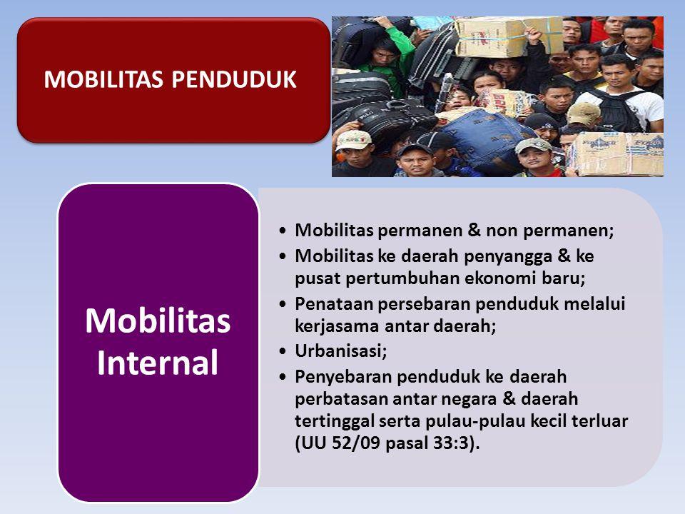 Mobilitas Internal MOBILITAS PENDUDUK