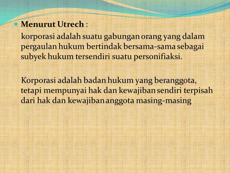 Menurut Utrech :