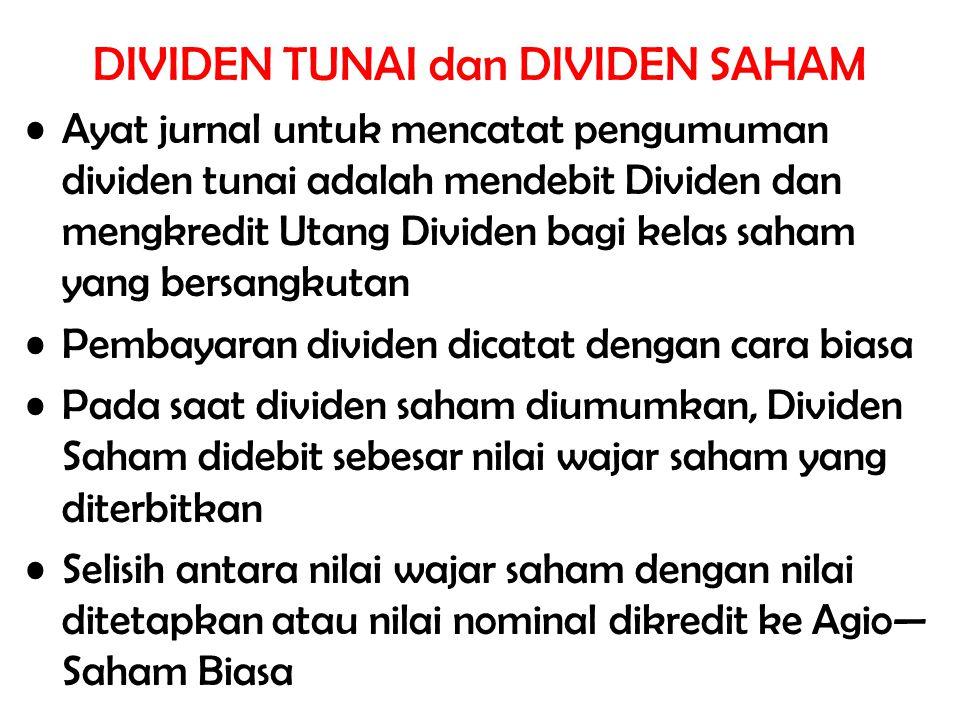 DIVIDEN TUNAI dan DIVIDEN SAHAM