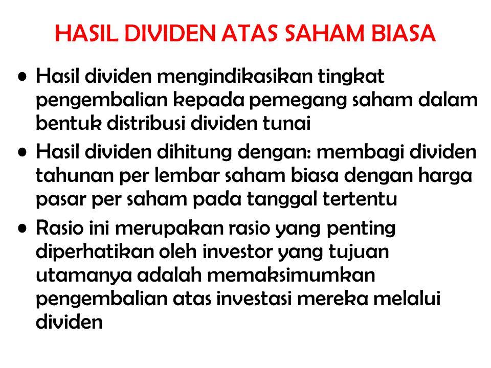 HASIL DIVIDEN ATAS SAHAM BIASA