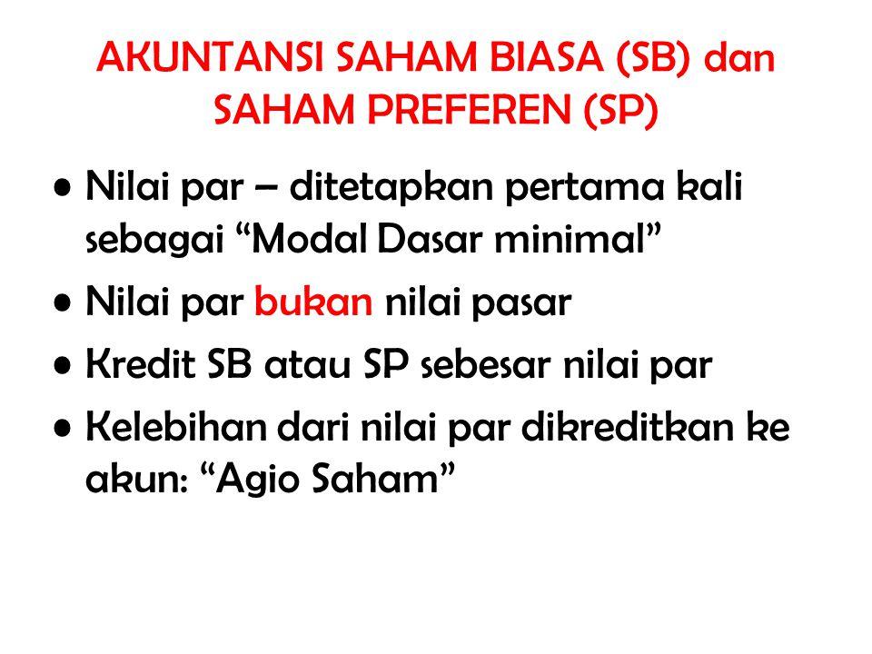 AKUNTANSI SAHAM BIASA (SB) dan SAHAM PREFEREN (SP)
