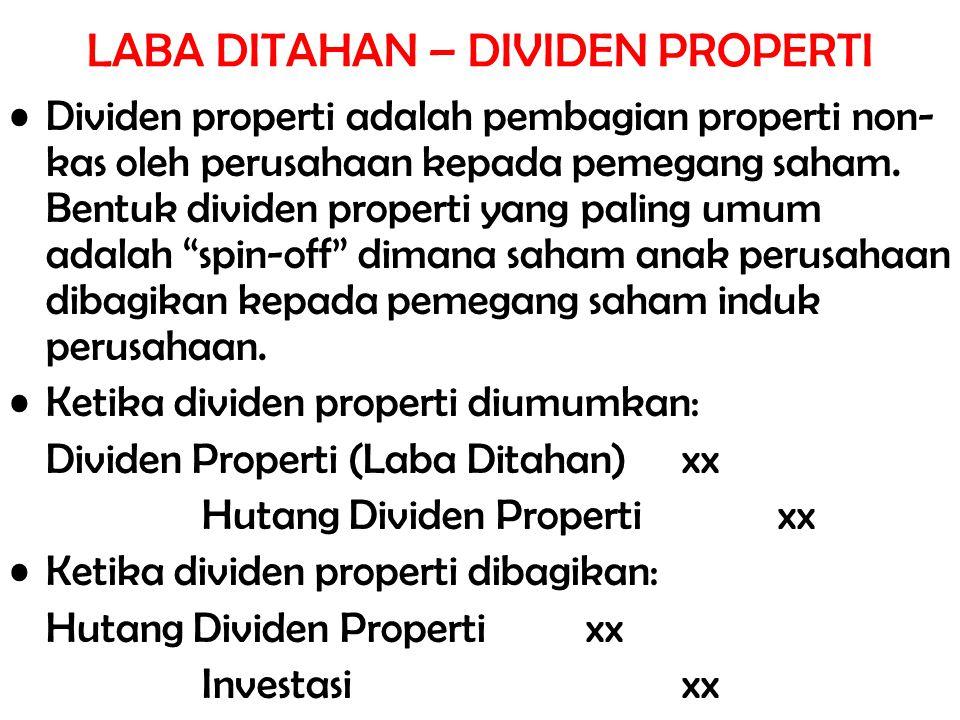 LABA DITAHAN – DIVIDEN PROPERTI