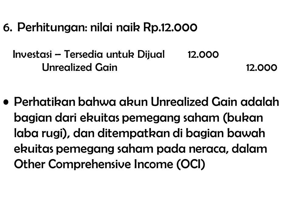6. Perhitungan: nilai naik Rp.12.000
