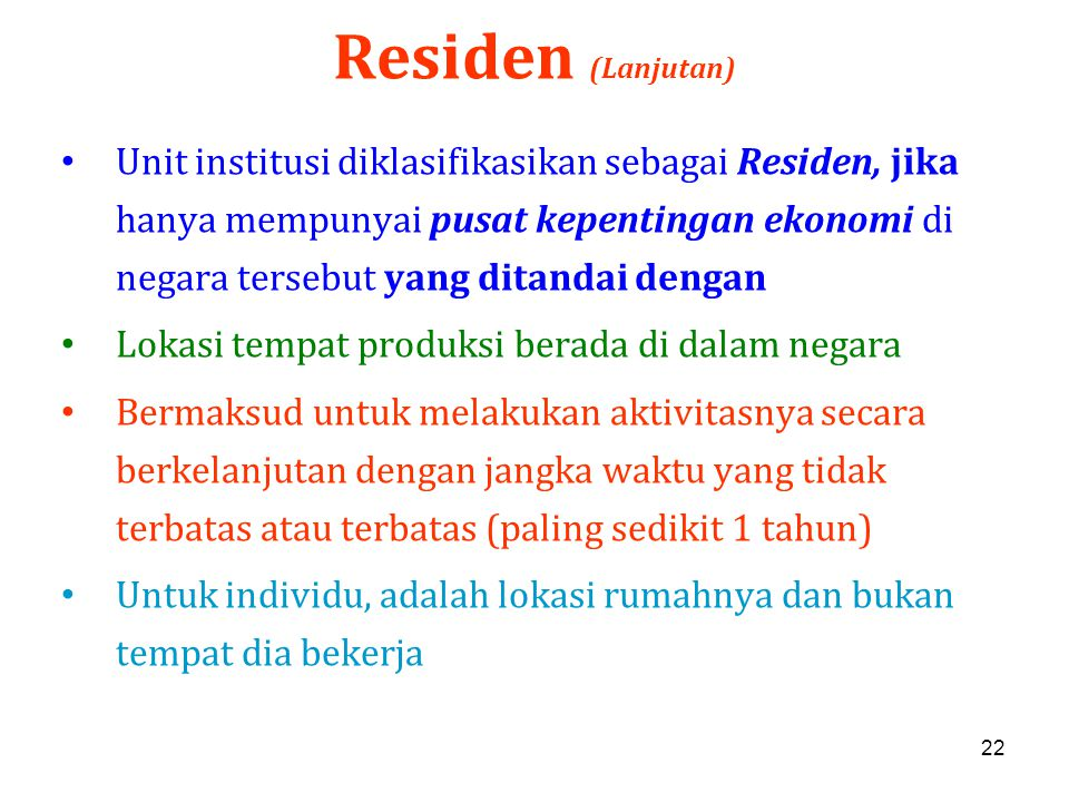Residen (Lanjutan)