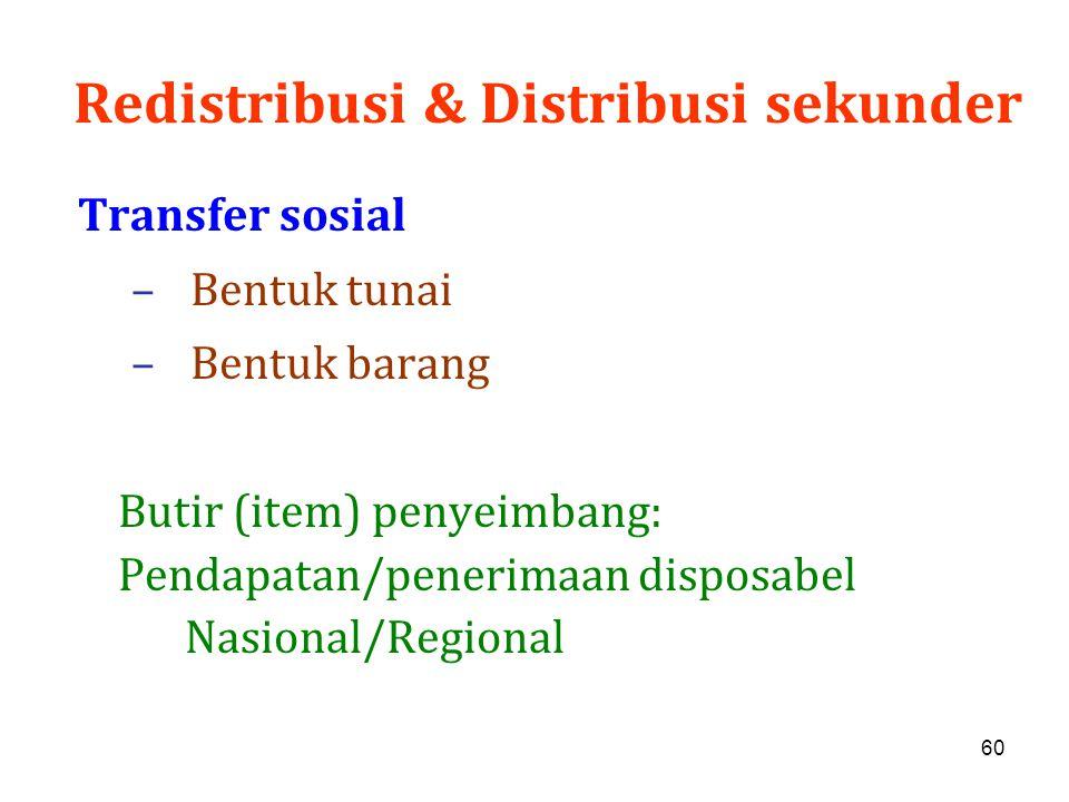 Redistribusi & Distribusi sekunder