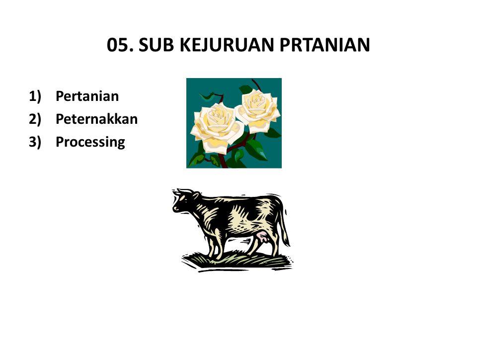 05. SUB KEJURUAN PRTANIAN Pertanian Peternakkan Processing