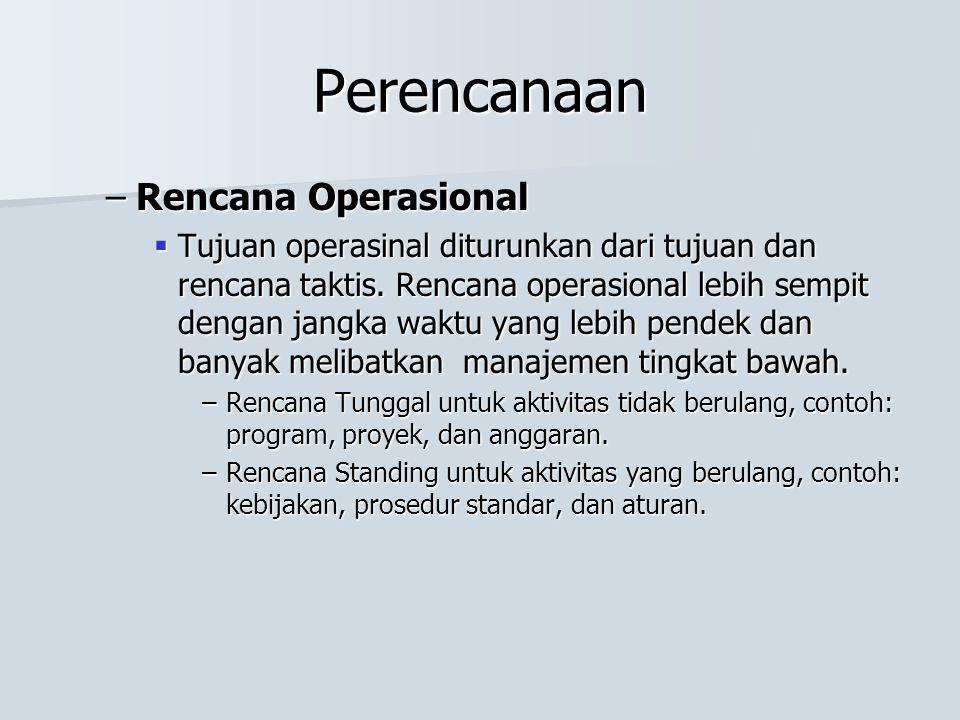 Perencanaan Rencana Operasional