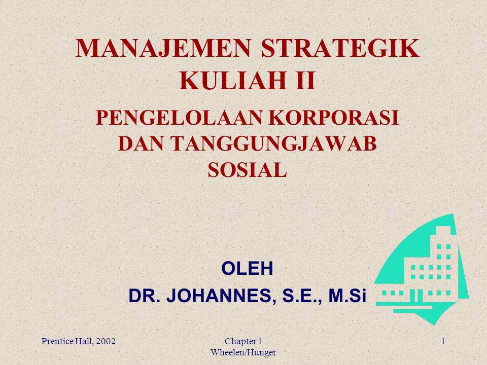 MANAJEMEN STRATEGIK KULIAH II