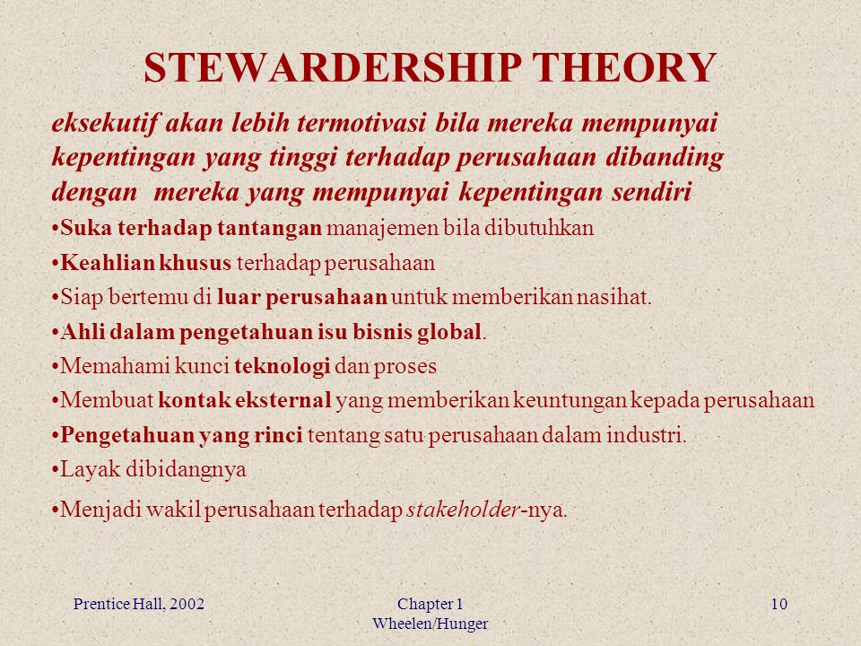 STEWARDERSHIP THEORY