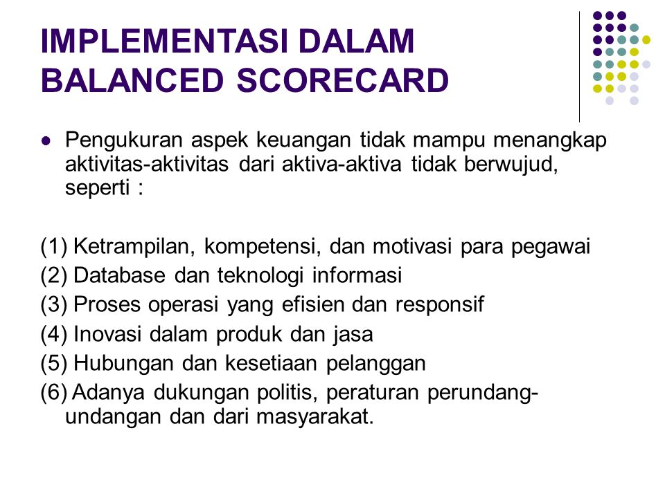 IMPLEMENTASI DALAM BALANCED SCORECARD