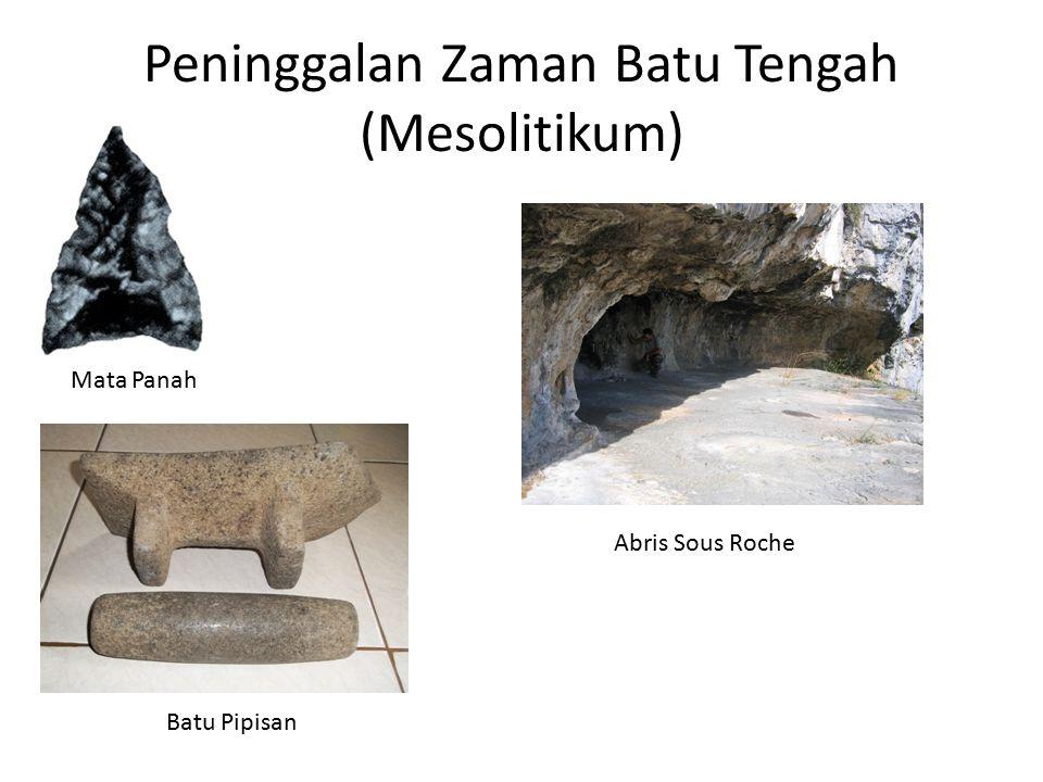 Peninggalan Zaman Batu Tengah (Mesolitikum)