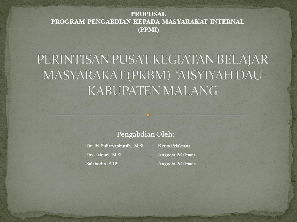PROGRAM PENGABDIAN KEPADA MASYARAKAT INTERNAL