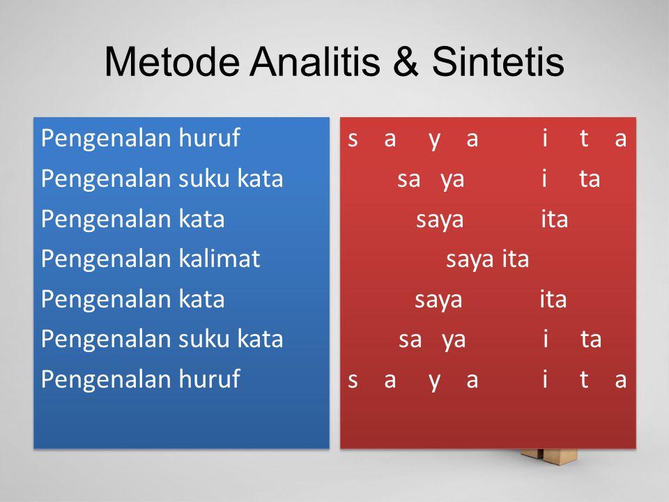 Metode Analitis & Sintetis