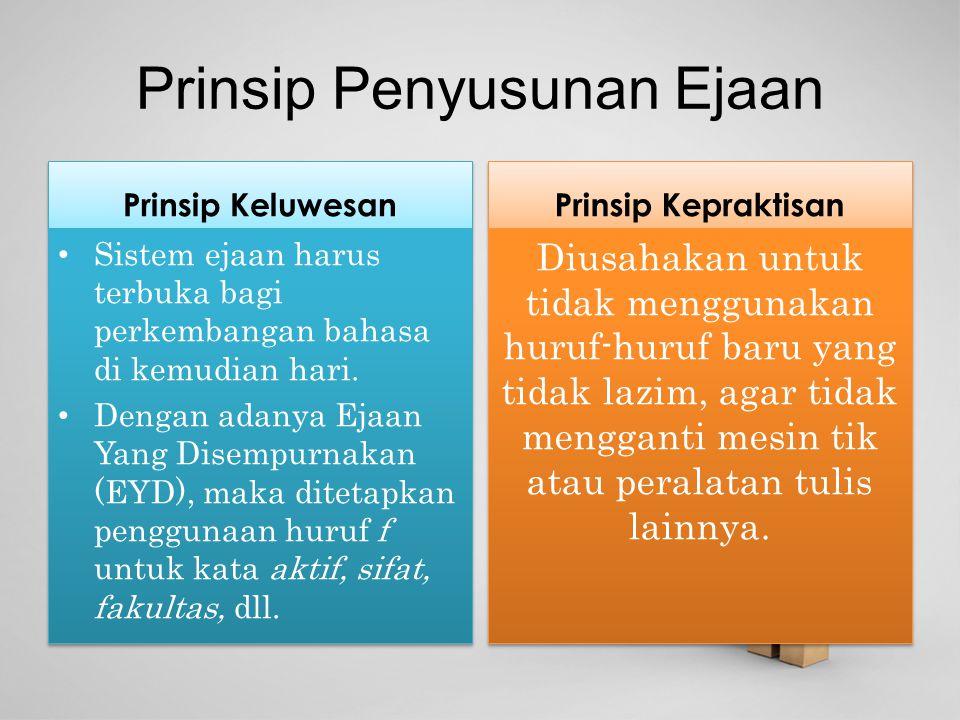 Prinsip Penyusunan Ejaan