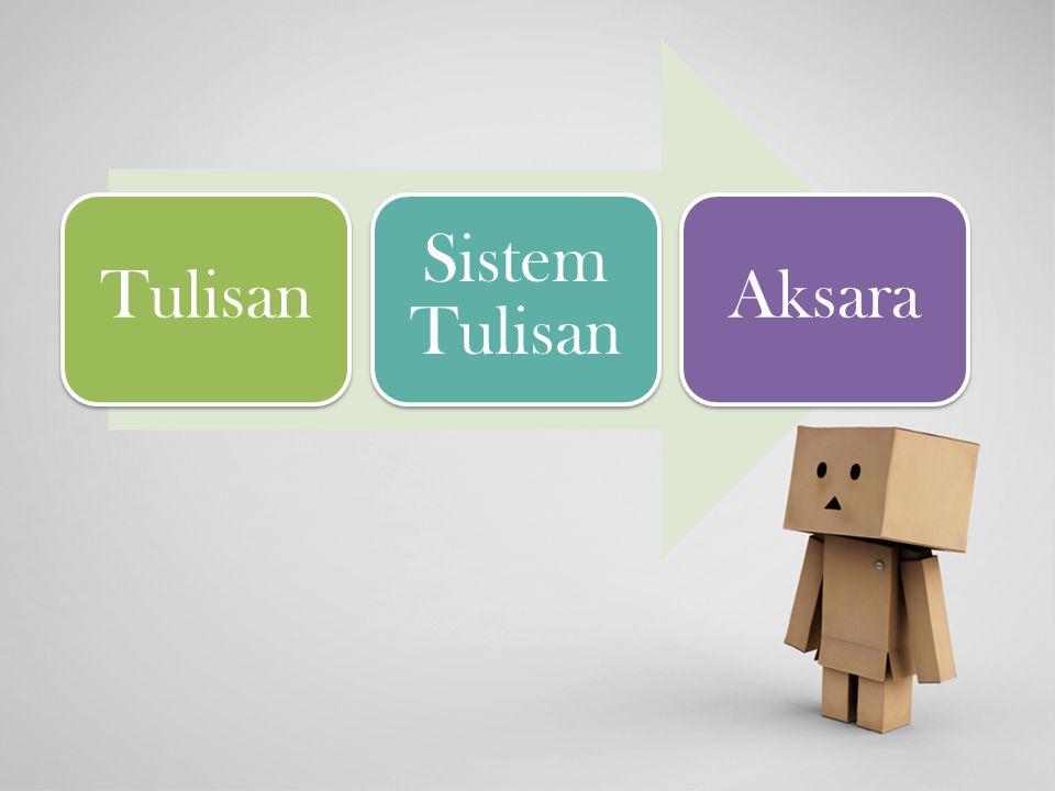 Tulisan Sistem Tulisan Aksara