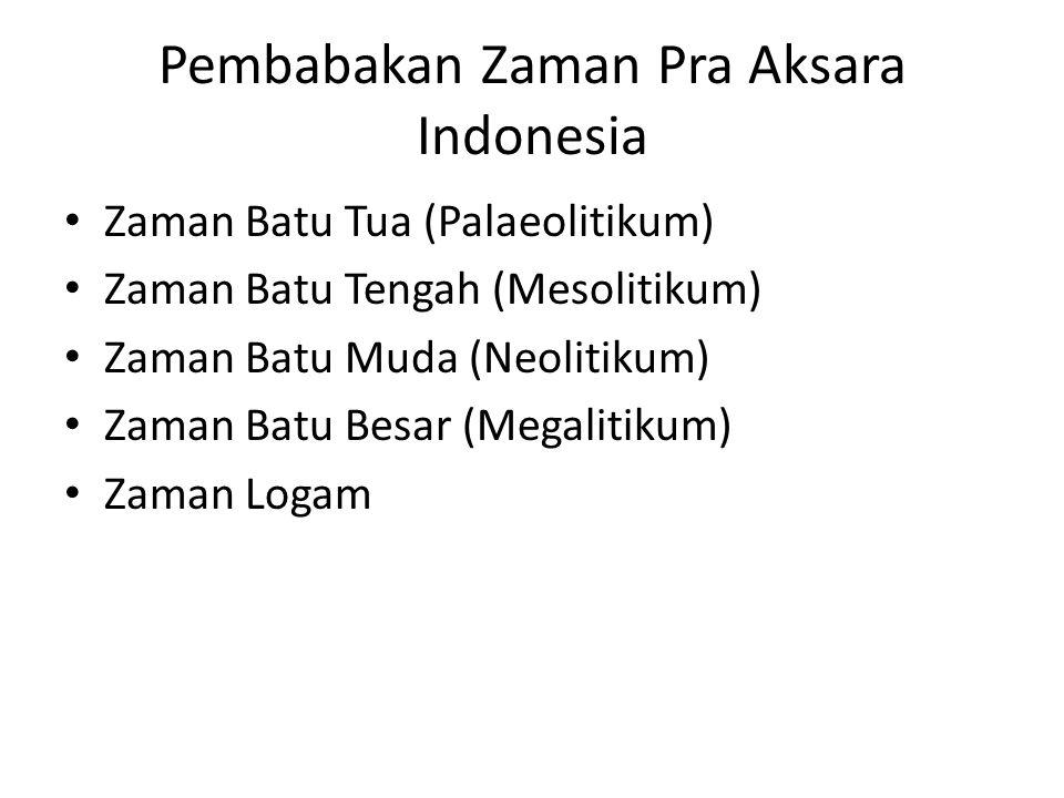 Pembabakan Zaman Pra Aksara Indonesia