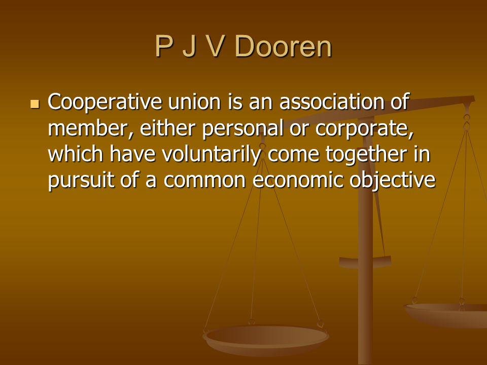P J V Dooren