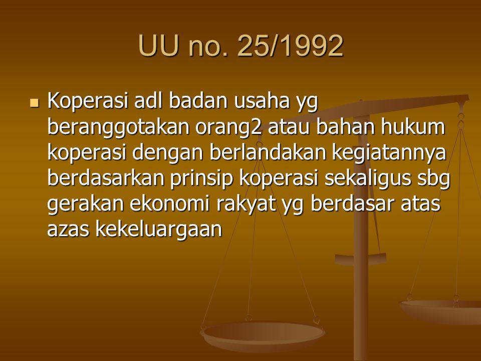 UU no. 25/1992